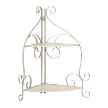 Bathroom Shelf, Scrollwork Storage Kitchen Corner Decorative Standing Shelf - $47.79