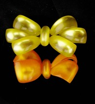 2 Large Lucite bow Brooch / Moonglow lucite / vintage brooch / gift for ... - $110.00