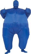 Skin Suit Costume Inflatable Blue Adult Men Women Halloween Unique RU887108 - $57.99