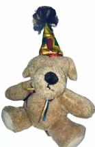Dandre Happy Birthday Teddy Bear Dog Plush  With Hat - $12.86