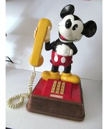 VTG Disney Mickey Mouse Phone 1976 Push Button Telephone TMIF8000 Amer Tel - $149.82