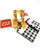 3 pc bundle I Love My Cat Coaster Key Plate Plate Stuffed Cat and Journal - $20.00