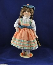Gretel 13-inch Franklin Heirloom Porcelain Doll 1984 Hand Painted with T... - $17.50