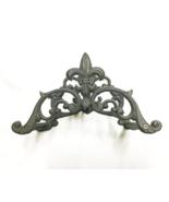 Cast Iron Fleur De Lis Hose Reel Rustic Brown Home Decor - $23.75