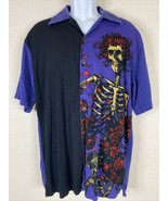 Grateful Dead by David Carey Men Size L Purple Skeleton Rose Hair Shirt ... - $171.00