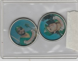 1987 Topps Coins Jose Canseco A's Reggie Jackson - $1.71