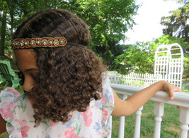 Golden Sun Beaded Headband - $12.50