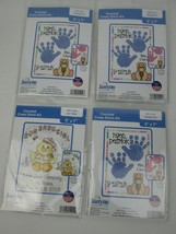 4 NEW Janlynn Our Baby and Handprints Counted Cross Stitch Kits Duck Lot... - $18.70