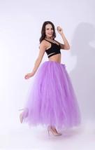 Women RAINBOW Maxi Skirt Drawstring Waist Mint Gray Maxi Tulle Skirt Petticoats image 15