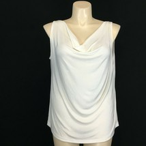 NEW Womens 2X Top Off White Knit Drape Stretch ASHLI Couture Tank Shell ... - $19.95