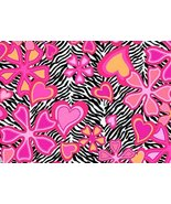 Creative Cuts Zebra Pink Flowers 2 Yards 100% Cotton Sewing Quilting Fab... - $16.99