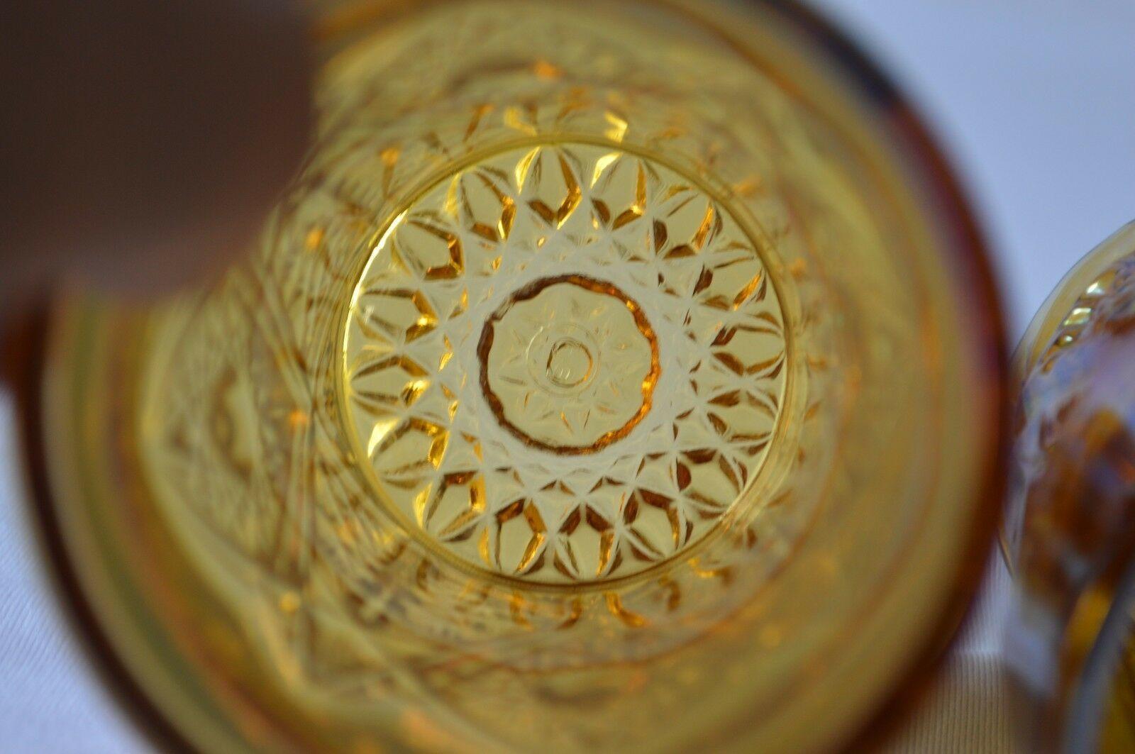 2 L E Smith Carnival Glass Valtec Tumblers image 6