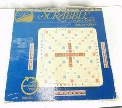 1977 Scrabble Crossword Game Deluxe Edition Turntable Game Board - $27.71