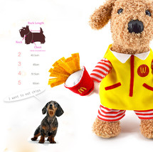 Pet  Costume Cat Dog Standing McDonald  Suit Dressing Up Party Apparel Clothing  image 1
