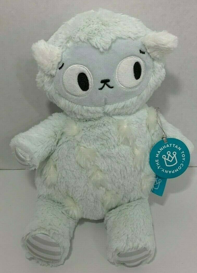 Manhattan Toy Co Plush Pals Tufty Monster New green blue gray NWT baby soft toy - $13.36