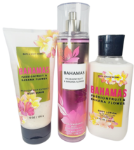 Bath & Body Works BAHAMAS PASSIONFRUIT & BANANA FLOWER Set Scrub Mist Lo... - $33.44