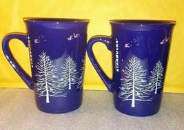 Christmas Tree Starbucks Mug LOT of 2 / Reindeer / 10 oz Coffee Tea Home... - $29.09