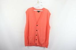 Brooks Brothers Country Club Mens XL Saxxon Wool Cardigan Sweater Vest S... - $49.45