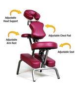 Ataraxia Deluxe Portable Folding Massage Chair w/Carry Case & Strap - Bu... - $93.93