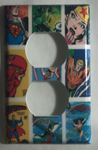 Comic Superhero USPS Stamps Light Switch Outlet wall Cover Plate Home Decor image 2
