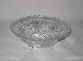 "Vintage 2 1/2"" Footed Clear Star Of David EAPG Early American Prescut Gl... - $31.61"