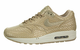 NIKE WOMEN'S AIR MAX 1 PRM SHOES blur orewood brown 454746 900 MSRP $130 - $69.98