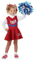 Classic Cheerleader Dress Up Play Toddler 3T - 4T Halloween Costume - $28.59