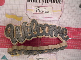 """Welcome"" Wall Plaque Homco-GIA Inc - $6.38"