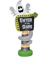 """8' Ghost """"Enter If You Dare"""" Sign Airblown Inflatable Yard Decor - $95.00"""