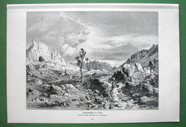 ITALY Dinaric Alps Near Trieste - VICTORIAN Antique Print Engraving - $16.83