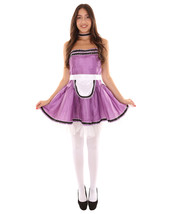 Adult Women's French Maid Uniform Costume   Medium Purple Cosplay Costume - $23.85