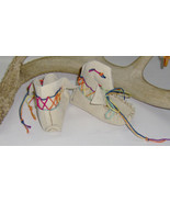 American Made! High Top Leather Baby Moccasins, First infant Moccasins L... - $32.95