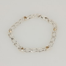 Auth Tiffany & Co. Sterling Silver & Gold K18 Chain Bracelet MINT #Z001 ... - $297.00