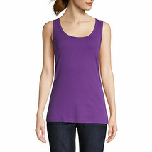 St. John's Bay Women's Scoop Neck Tank Top Size X-Large Venu Violet 100% Cotton  - $11.87