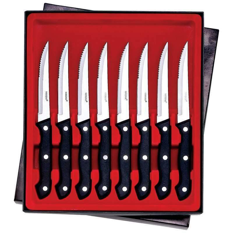 """Maxam® 8pc 8-7/8"""" Steak Knife Set - $24.70"""