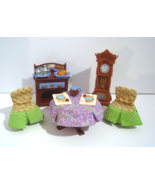 Fisher Price Loving Family Dollhouse Grand Mansion Dining Room Buffet Clock - $21.95