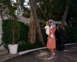 First Lady Jacqueline Kennedy and JFK Jr. arrive home from Mass New 8x10... - $8.81