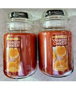 2 Yankee Candle HONEY CLEMENTINE Large 1-Wick Classic Jar Candle 22 oz - $55.95