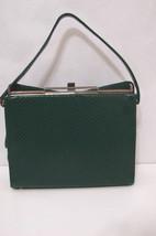 Vintage Handbag 1960's Green Snake Skin Kelly Peg Bottom  - $179.99