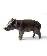 Pig, piglet, young pig, pig figurine, piglet statuette, funny piglet, br... - $13.00