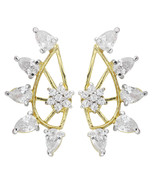 Efulgenz Cubic Zirconia Cubic Zirconia Stone Cuff Earring for women - $25.00