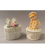 Trinket Boxes Doves Rose Prestige Baby Angel Wings Cherub Jewelry White ... - $45.00