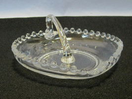 "Imperial Candlewick Wafer Tray With Center Handle 6"" Candy Dish - $10.99"