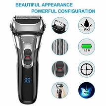 Electric Shaver with Pop-up Trimmer for Men, Men's Electric Razor Cordless Foil  image 2