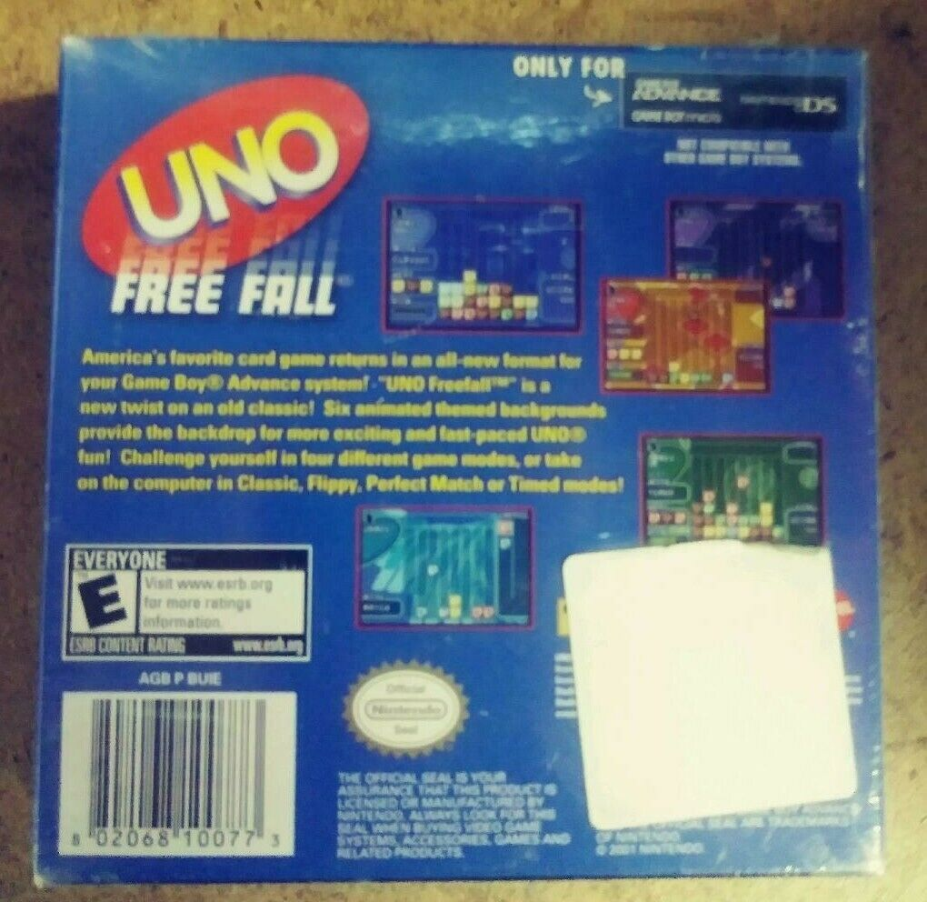 Uno Free Fall (Nintendo Game Boy Advance, 2007) NEW FACTORY SEALED image 2
