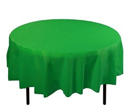 Exquisite 12-Pack Plastic Tablecloth Table Cover 84-Inch Round Emerald G... - $23.14