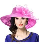 VECRY Women's Dressy Church Baptism Wedding Derby Hat Rose - $26.81