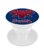 Atlanta Braves Pop Up Phone Holder Expanding Stand Hand Grip Mount Out 01 - $12.99