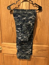 Mens MilitAry Camouflage Navy Paintball Hunting Pants Sz 26-30 Elastic W... - $9.49