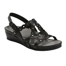 Earth Shoes Ficus Leo Wedge Sandals Black Size 7 M - $98.99
